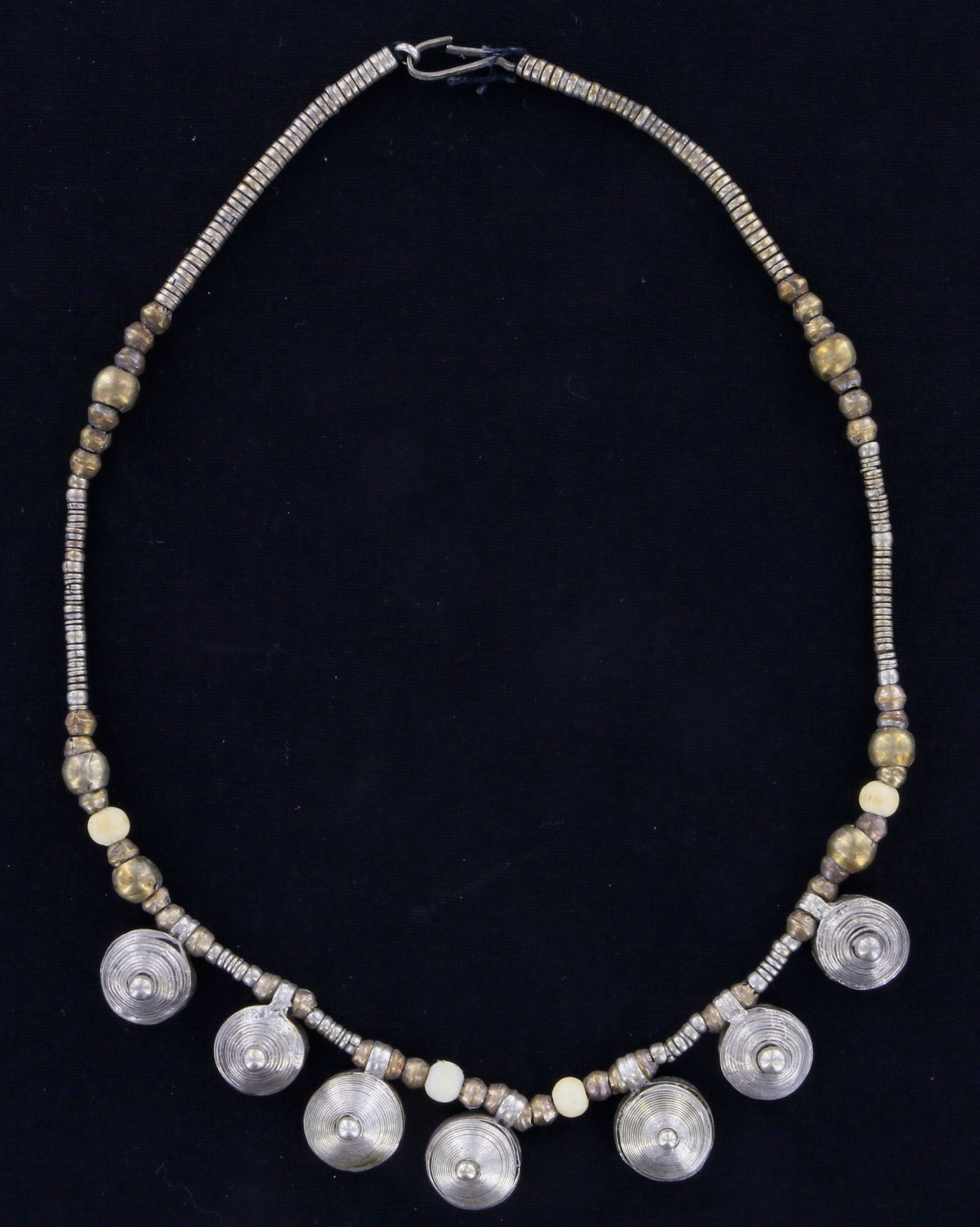 Ethiopian silver alloy necklace with Telsums 02 03 030