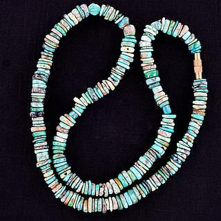 Rough Cut Turquoise Necklace 05.17.1544