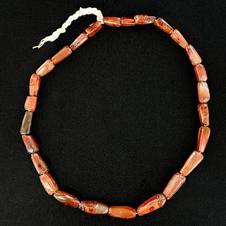 Necklace with 26 ancient African carnelian beads 05.04.945