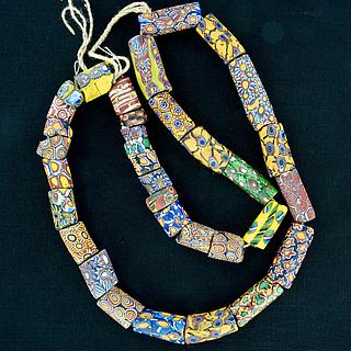 Strand, necklace, with 34 ancient millefiori beads 05.01.1488
