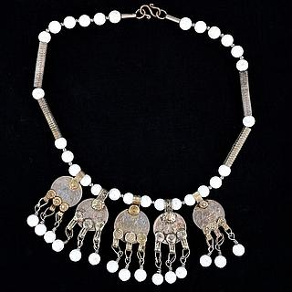 Bedouin silver necklace with coins 03.01.1339