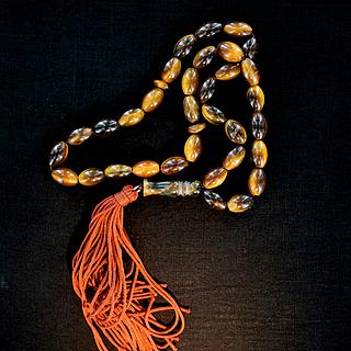 Islamic prayer rosary with tiger eye beads 05.16.1478