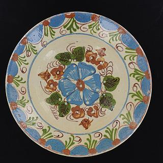 Pottery Dish with flower motifs from Swat Valley  14.03.1180