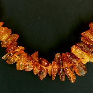 Nice necklace of small baltic amber beads 05.05.358