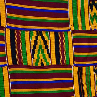Old and fine Kente from Ghana 10.07.1143