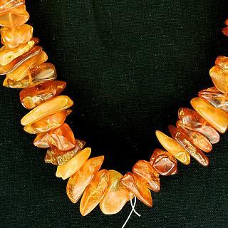 Neclace with real baltic amber 05.05.357