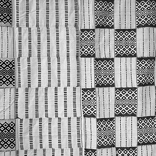 Black and white Kente cloth 10.07.1145