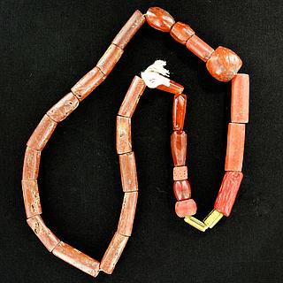 Original African necklace with mixed beads 05.04.952