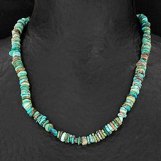 Graduated Rough Cut Turquoise Necklace 05.17.1545