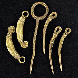 Set of 6 neck ornaments from Northern Cameroon 01.06.1015