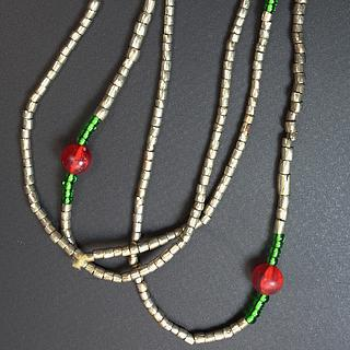 Ethiopian necklace with small silver alloy beads 02.03.031