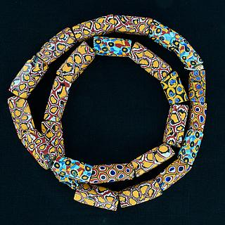 Necklace with 25 ancient millefiori beads 05.01.1489