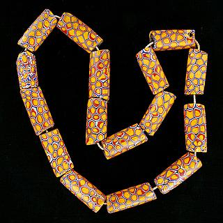 Necklace of 16 ancient millefiori beads 05.01.1487