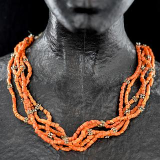 Yemeni coral necklace 03.01.1286