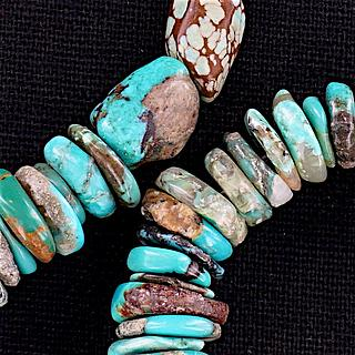 Rough Cut Turquoise Necklace 05.17.1546