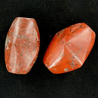 Two large antique African carnelian beads 05.04.965