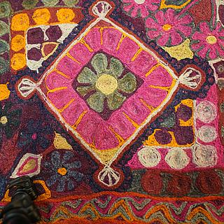 Colorful hand woven lilim from Tajikistan 11.03.1806