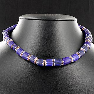 Necklace, (choker) with ancient chevron beads 05.01.1498