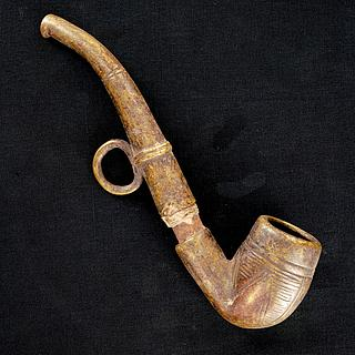 Ancient African bronze pipe  21.01.1583
