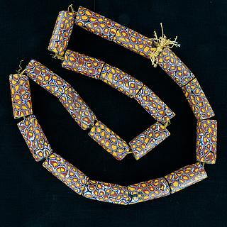 Necklace with 19 ancient millefiori beads 05.01.1492