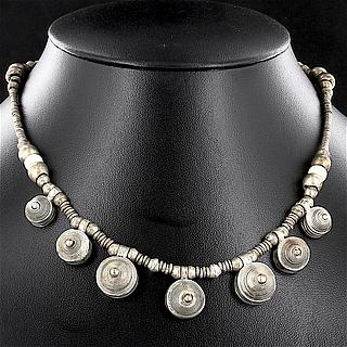 Ethiopian necklace with 7 round Telsum beads 02.03.506