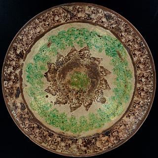 Large hand made deep pottery dish from the Swat valley 14.03.1182